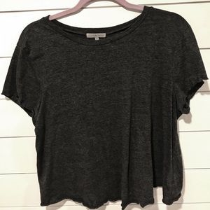 CHARLOTTE RUSSE | Dark Grey Loose Fitting T-shirt